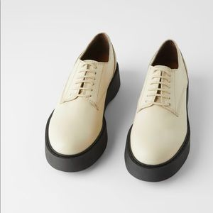 Zara leather derby/oxford shoes